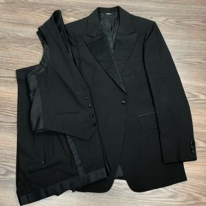 After Six Black 3-Piece Tux Tuxedo 39R